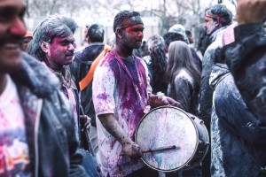 Phagwah (Holi) parade. Richmond Hill, New York